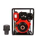 Мотопомпа дизельная WEIMA WMCGZ100-30 E (9,5 л.с.,120 м3/ч, электростартер, 100 мм), фото 2