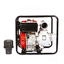 Мотопомпа дизельная WEIMA WMCGZ100-30 E (9,5 л.с.,120 м3/ч, электростартер, 100 мм), фото 4