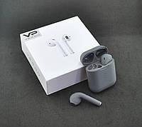 Bluetooth-гарнитура Veron VR-01 (+кейс для зарядки и хранения) Grey