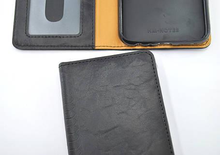 Чехол-книжка Flip Cover for Xiaomi Redmi 8A WALL Black, фото 2
