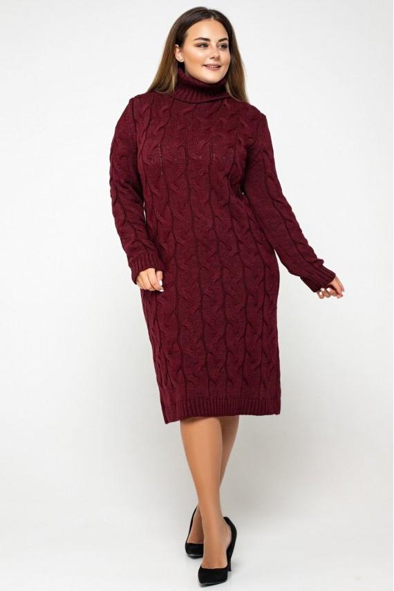 В'язане плаття з горлом міді 42-48, 50-56 розмір
