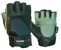 Рукавички для фітнесу PowerPlay 1556 Чорно-Сірі L, фото 1