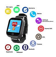Детские смарт часы с GPS трекером SOS вызов магнитная зарядка Q100