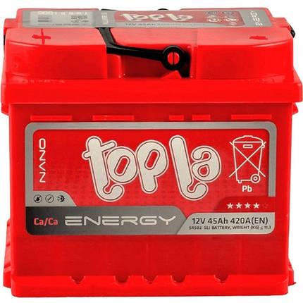 Автомобильный аккумулятор Topla 45 Ah/12V Energy (1) (108345), фото 2