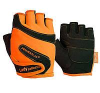 Рукавички для фітнесу PowerPlay 1729 D жіночі Оранжеві XS, фото 1