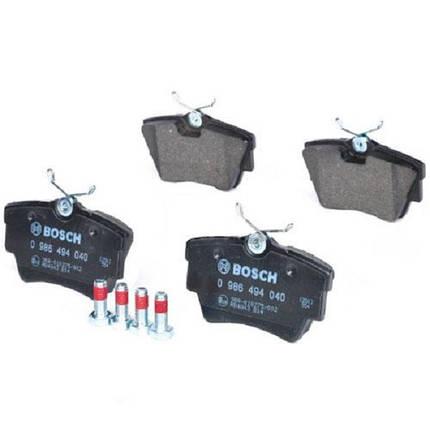 Тормозные колодки Bosch дисковые задние NISSAN Primastar/OPEL Vivaro/RENAULT Trafic 0986494040, фото 2
