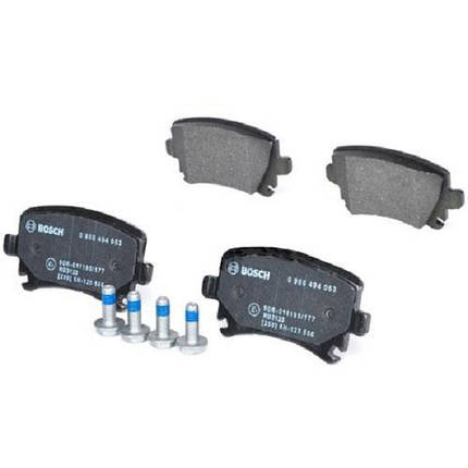 Тормозные колодки Bosch дисковые задние AUDI/SEAT/SKODA/VW -08 0986494053, фото 2
