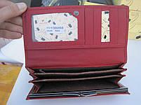 Женский кожаный кошелек TAILIANТ Т809-ЗН09-В Red ᐈ Стильныйе недорогие КОШЕЛЬКИ ➤  Кожаный ⋆ Недорого ➤, фото 3
