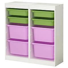 Органайзер с ящиками для игрушек IKEA TROFAST Разноцветный (298.712.91)