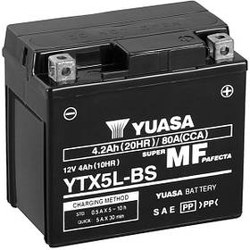 Мото аккумулятор Yuasa 4 Ah/12V MF VRLA Battery AGM (сухозаряжений) (YTX5L-BS)