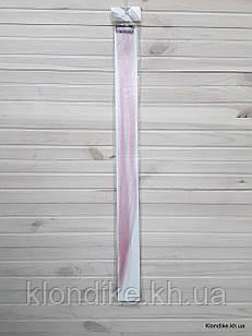 Накладная прядь на заколке, прямая, 40×5 см, Цвет: Бледно-розовый
