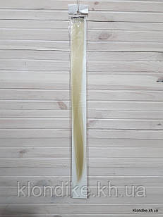 Накладная прядь на заколке, прямая, 40×5 см, Цвет: Блонд