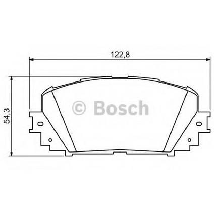 """Тормозные колодки Bosch дисковые передние TOYOTA Yaris/Prius ''F """"06 0986494196, фото 2"""