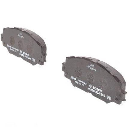 """Гальмівні колодки Bosch дискові передні TOYOTA Corolla/RAV 4/Urban Cruiser """"F """"1,3 0986494240, фото 2"""