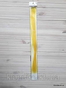 Накладная прядь на заколке, прямая, 40×5 см, Цвет: Желтый