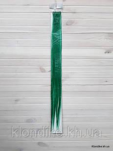 Накладная прядь на заколке, прямая, 40×5 см, Цвет: Изумруд