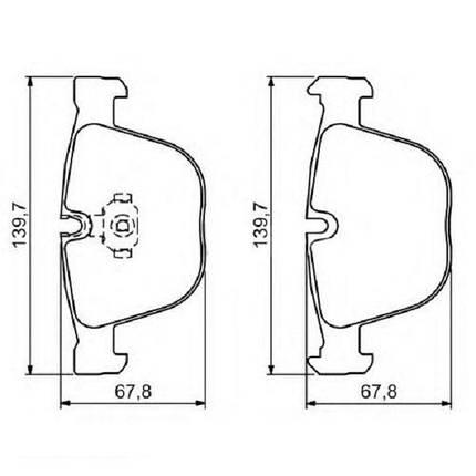 """Тормозные колодки Bosch дисковые задние BMW 3/5/6/7X5/X6 """"R """"02>> 0986494325 , фото 2"""