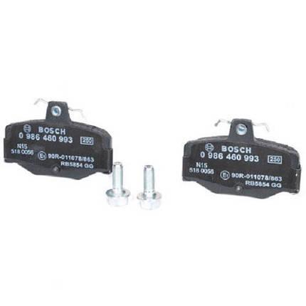 Тормозные колодки Bosch дисковые задние NISSAN Primera -01 0986460993, фото 2