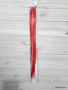 Накладная прядь на заколке, прямая, 40×5 см, Цвет: Красный