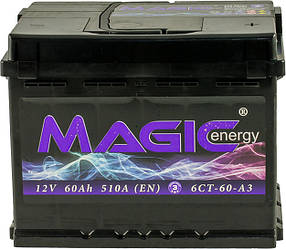 Автомобильный аккумулятор Magic Energy 60 Ah/12V Euro (0) (MGT060-M00)