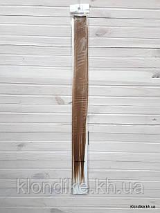 Накладная прядь на заколке, прямая, 40×5 см, Цвет: Русый
