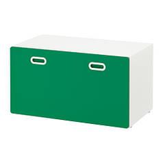 Скамья-комод IKEA STUVA / FRITIDS с местом для хранения игрушек 90 x 50 x 50 см Зеленая (792.622.06)
