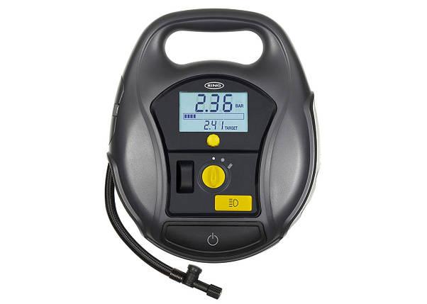 Компрессор автомобильный RING RTC5000 двухмоторный с цифровым манометром и LED фонарем, фото 2