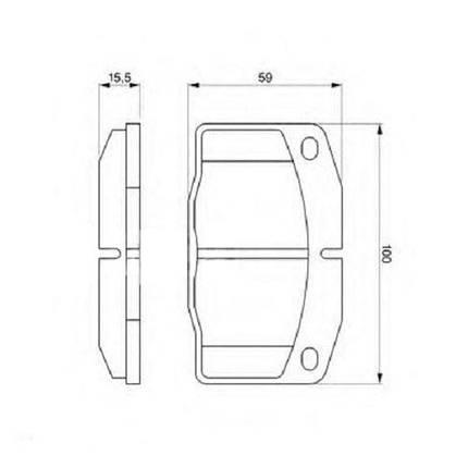 """Тормозные колодки Bosch дисковые передние OPEL >>""""95 0986465141 , фото 2"""