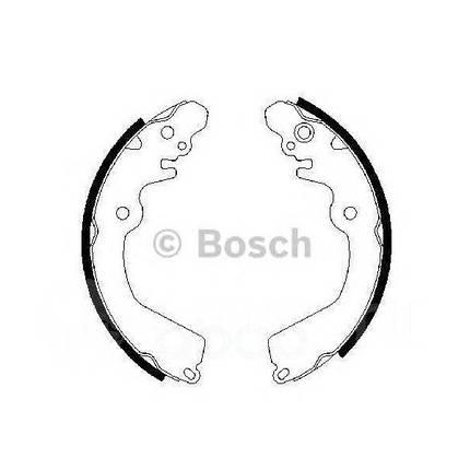Тормозные колодки Bosch барабанные задние MITSUBISHI Lancer/Galant/Carisma/Colt -01 0986487451, фото 2