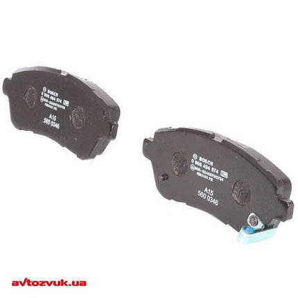 Тормозные колодки Bosch дисковые передние FORD/MAZDA/SUZUKI Fiesta/2/Justy/Swift ''F 0986494574, фото 2