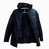 Демисезонная женская куртка с накладным карманом, модель Юлия, черная, размеры 48 - 54, фото 3