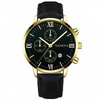 Мужские часы Geneva Hermes gold