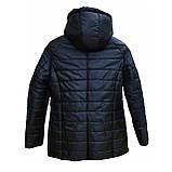 Демисезонная женская куртка с накладным карманом, модель Юлия, черная, размеры 48 - 54, фото 4