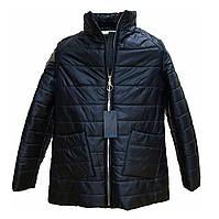 Демисезонная женская куртка с накладным карманом, модель Юлия, черная, размеры 48 - 54