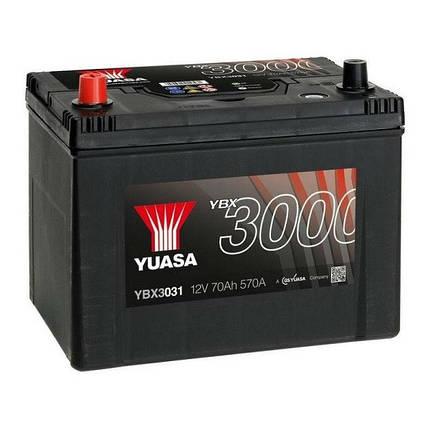 Автомобільний акумулятор Yuasa 70 Ah/12V SMF Battery Japan (1) (YBX3031), фото 2