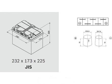 Автомобильный аккумулятор 0092S40240 S4  ASIA  SILVER   60 А*ч  -/+   540A, фото 2