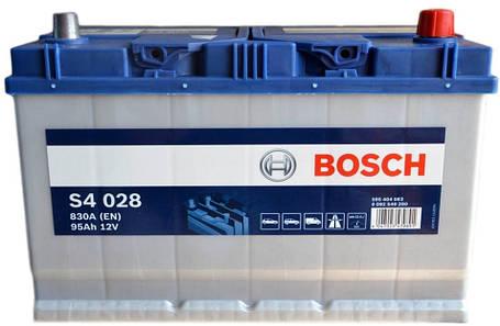 Автомобильный аккумулятор 0092S40280 S4  ASIA  SILVER   95 А*ч  -/+   830A, фото 2
