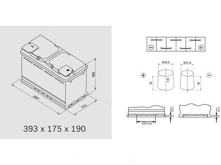 Автомобильный аккумулятор 0092S50150 S5  SILVER  110 А*ч  -/+  920A, фото 2
