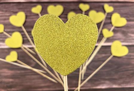 Топпер Золотые сердца, 120 шт, фото 2