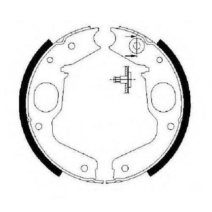 Тормозные колодки Bosch барабанные задние MITSUBISHI Challenger/L400/Montero/Montero 0986487719, фото 2