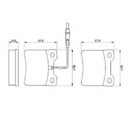 Тормозные колодки Bosch дисковые задние MB V-Class/Vito ''R ''>>03 0986494000 , фото 2