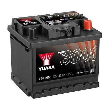 Автомобильный аккумулятор Yuasa 45 Ah/12V SMF Battery (0) (YBX3063), фото 2