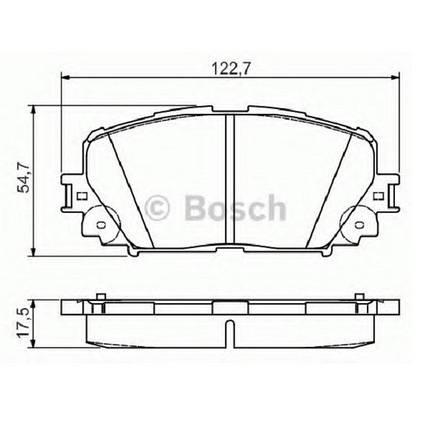 """Тормозные колодки Bosch дисковые передние TOYOTA Yaris/Prius ''F """"06>> PR2 0986495109 , фото 2"""