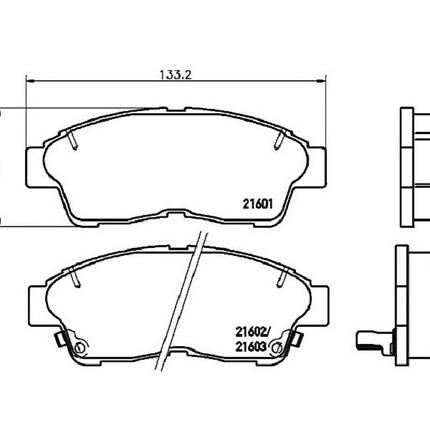 """Гальмівні колодки Bosch дискові передні TOYOTA Camry/Corolla/Carina E/RAV 4/Sprinter """"F"""" 0986495257, фото 2"""