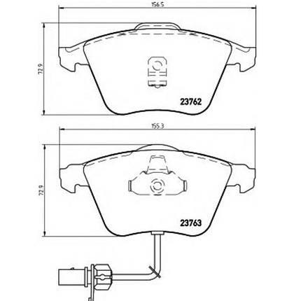 """Гальмівні колодки Bosch дискові передні AUDI/VW S3/TT/Leon/Passat/Golf IV/V """"F"""" 0986495261, фото 2"""