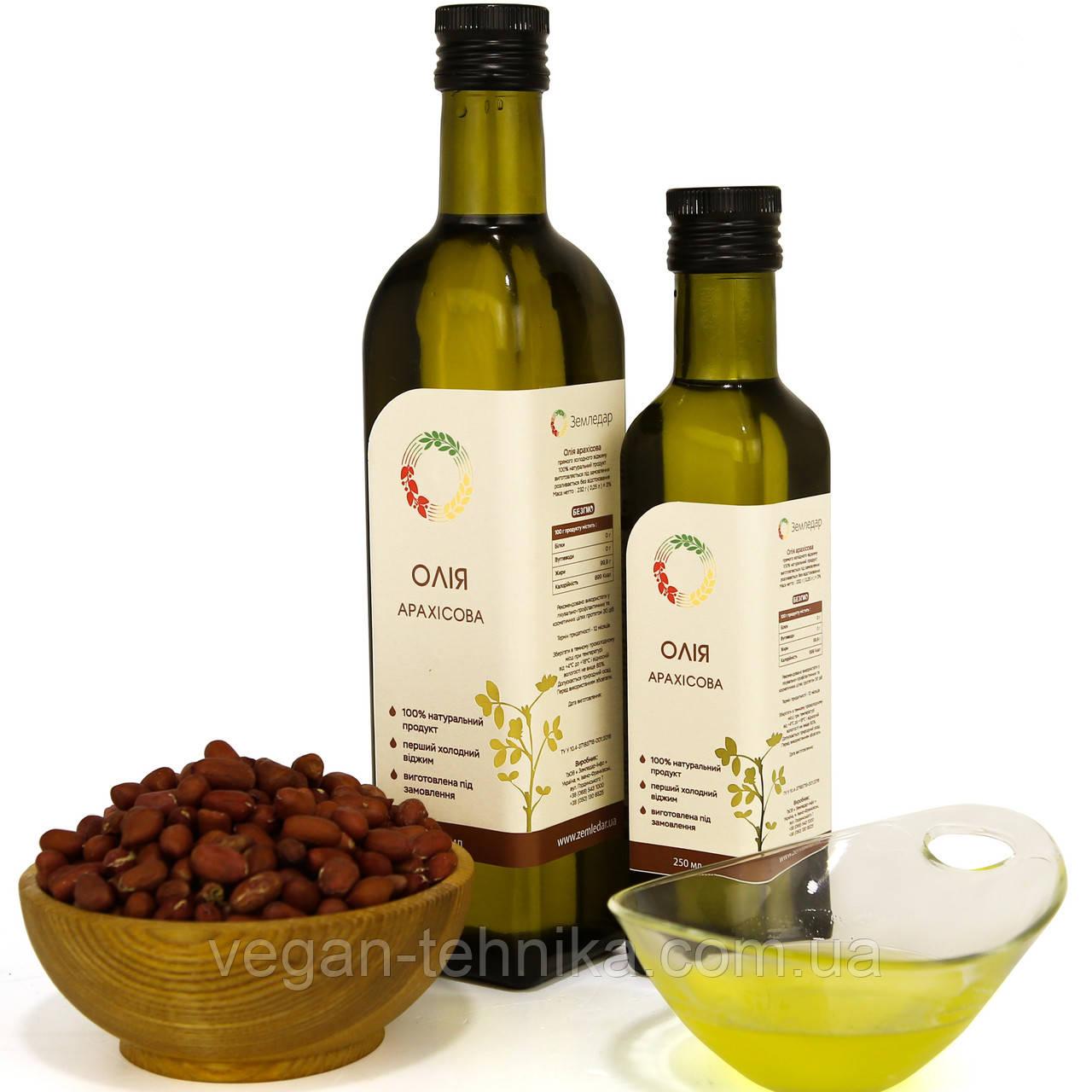 Арахисовое масло холодного отжима (сыродавленное) нерафинированное