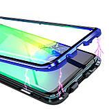 Магнітний метал чохол FULL GLASS 360° для Xiaomi Redmi Note 8 Pro /, фото 4