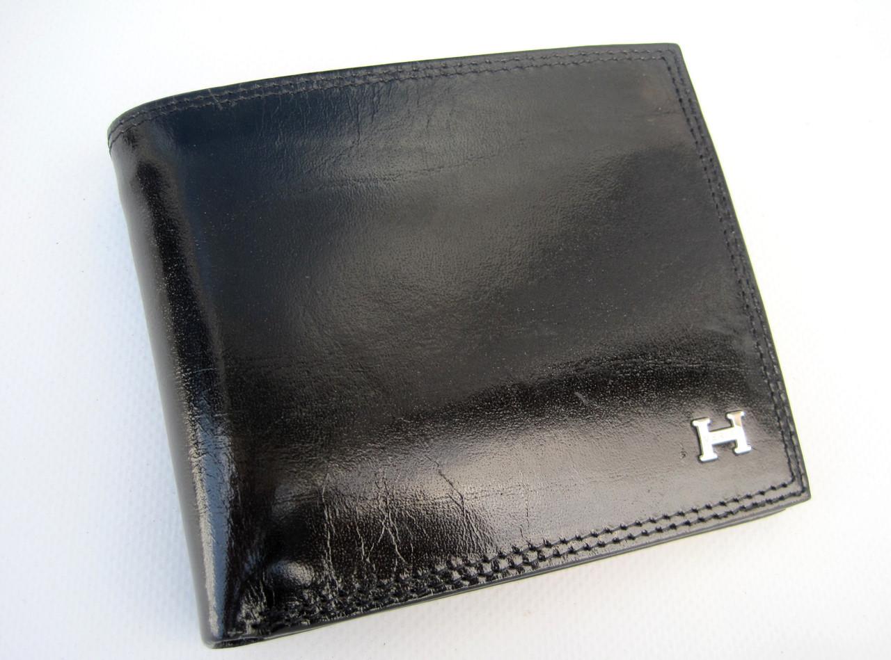 Чоловіче шкіряне портмоне VE-025-10 black шкіряне портмоне і шкіряні гаманці оптом