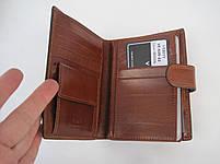 Мужское кожаное портмоне VERITY VE-025-22 brown кожаное портмоне и кожаные кошельки оптом, фото 4