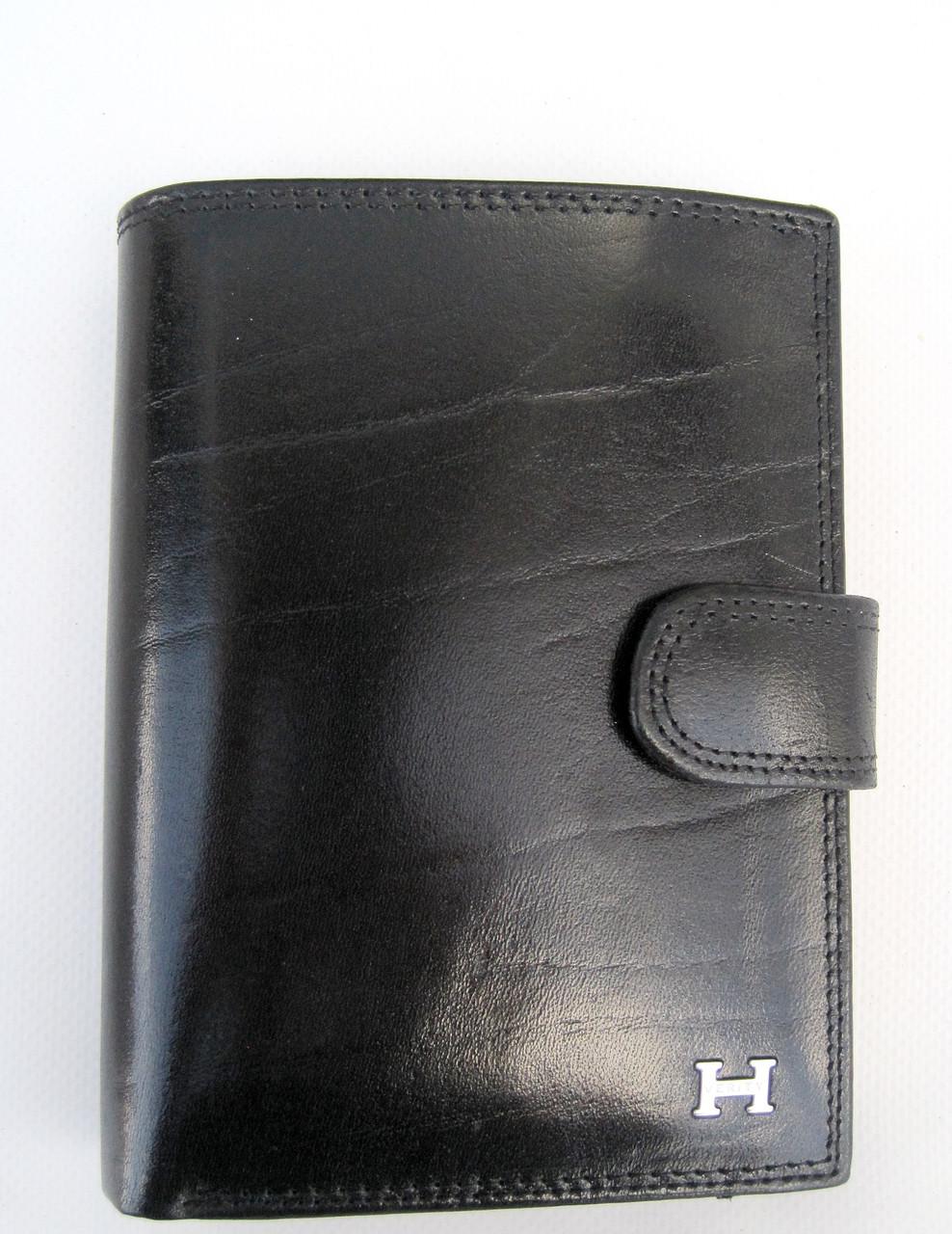Чоловіче шкіряне портмоне VERITY VE-025-22 black шкіряне портмоне і шкіряні гаманці оптом